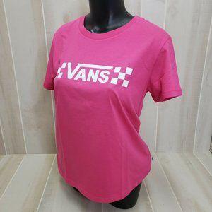 VANS Womens Shirt Large Pink Short Sleeve Tee